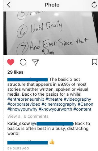 an example of good instagram engagement